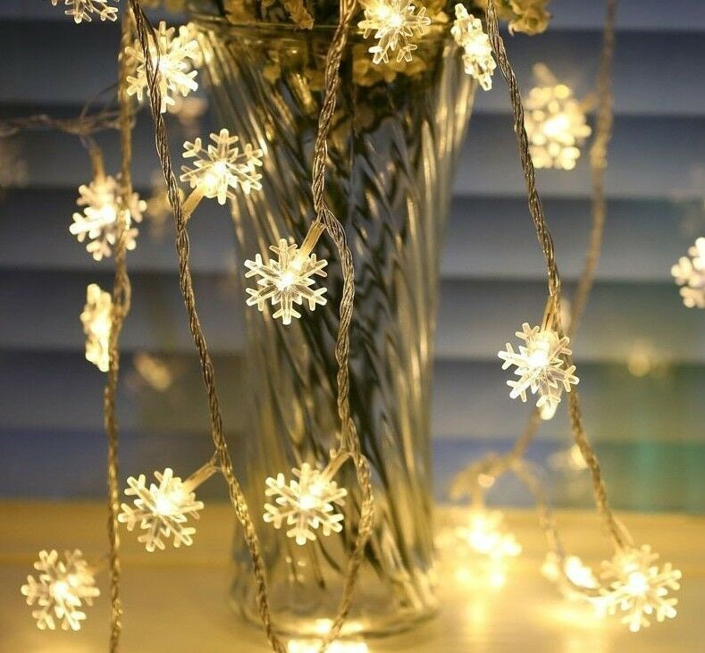 Christmas Tree Snow Led String Fairy Light Party Home Decora