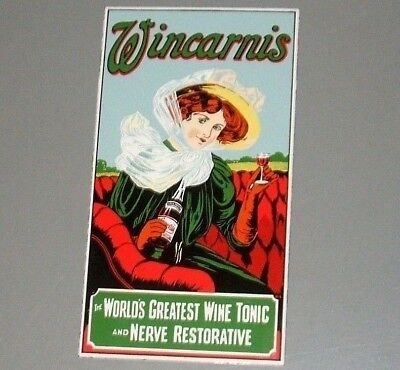 "Used Original Pictorial Enamel Sign WINCARNIS  ""The World's Greatest Wine Tonic"""