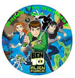 Ben 10 Personalised Wafer Paper Topper For Large Cake Various Sizes 7.5