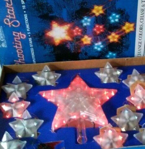RARE Vintage MR. CHRISTMAS Lights Stars Color Changing Twinkles~Works Great! NOS
