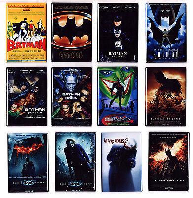 BATMAN - MOVIE POSTER MAGNETS (begins dark knight rises beyond 1989 1966 joker) - 1966 Batman Movie Poster