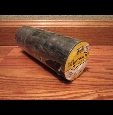 Lot Of 10 Rolls Smart Electrician Premium Black Pvc Electrical Tape 34 X 60