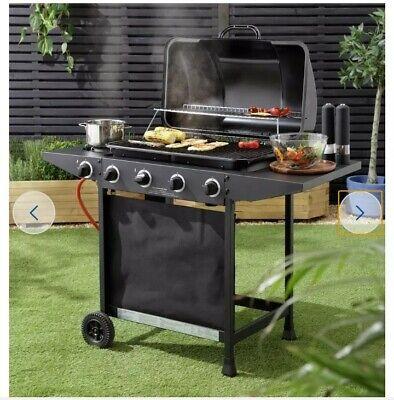 Home 4 Burner Gas BBQ With Side Burner