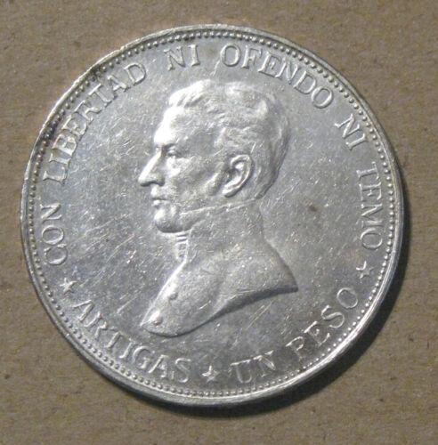 Uruguay - 1917 Large Silver Peso - Very Nice
