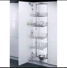 Hafefe chrome pull out kitchen larder unit for 600mm units. Soft close. New.