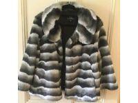 Wallace Sacks faux fur jacket size 14