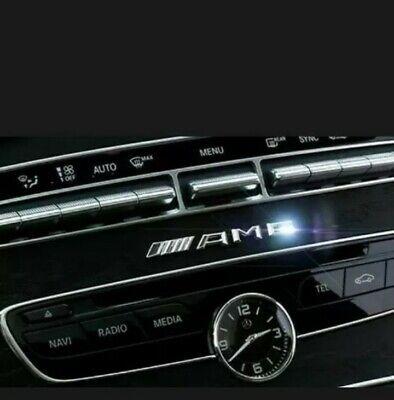 3d Chrom Auto Emblem  Aufkleber Innen Außen für Mercedes-Benz C E S AMG