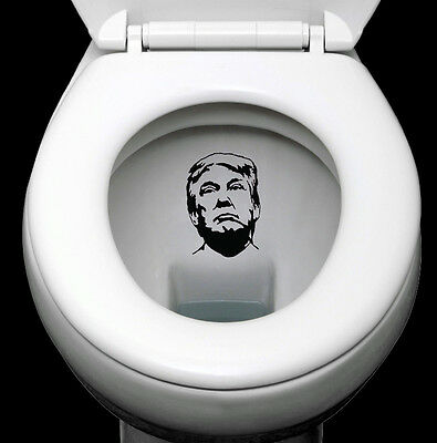 Donald Trump Decal 2 Pack Flush Trump Decal Anti Trump Decal Gifts under $5.00