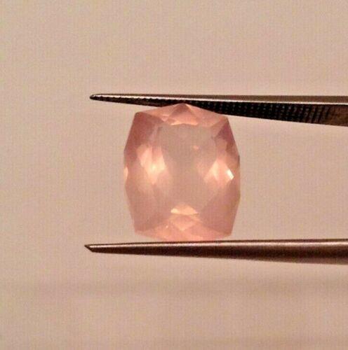 Pretty Pink Rose Quartz Gemstone,Special Modified Cushion Cut,12X10mm,5.10cts.