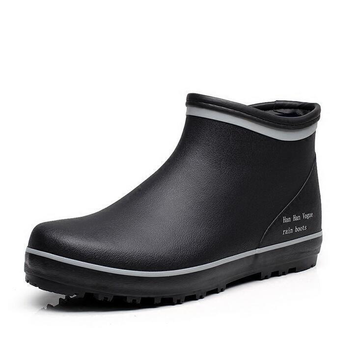 Mens Non-slip Waterproof Wellington Vogue Fishing Rain Boots Casual Shoes 46