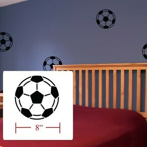 Soccer Balls Decal Boys Girls Room Decor Soccer Balls