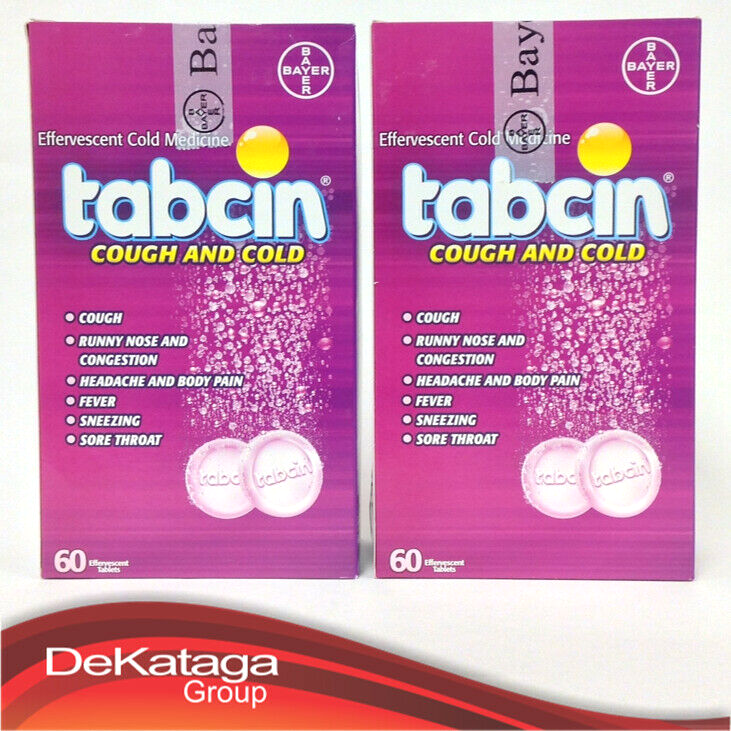 2 TABCIN COLD & COUGH✅ 60 Efervescent / GRIPE Y TOS Tabletas Efervescentes