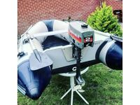 Inflatable dinghy with Mariner 2hp outboard