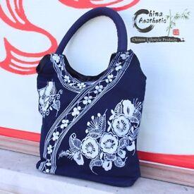 Miao Ethnic Minority Wax Printed Handbag
