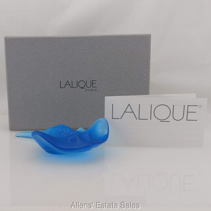 Rare Lalique Blue Stingray Limited Edition #82 w/Original Box Insured Shipping