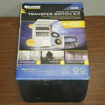 Reliance 306lrk Pre-wired 6-circuit Backup Power Transfer Switch Kit New Open