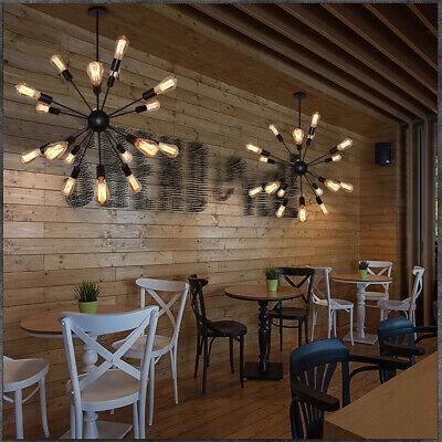 Retro Industrial Sputnik Chandelier Hanging Pendant Lamp Ceiling Light Fixtures