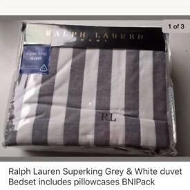 Ralph Lauren superking duvet & pillow cases