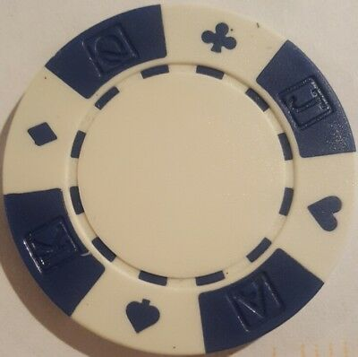 Ace King Poker Chips - 11.5 g Ace-King-Queen-Jack Suited roll of 25 poker chips - White