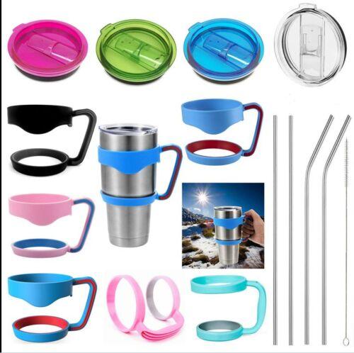 handle lid straws for 30 20 oz yeti tumbler cup holder travel drinkware rambler ebay. Black Bedroom Furniture Sets. Home Design Ideas