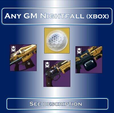 Destiny 2 Grandmaster Nightfalls | ANY GM Nightfall Completion (Xbox Only)