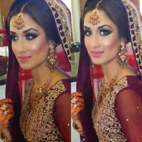 AFFORDABLE ON-SITE INDIAN/PAK  BRIDAL/PARTY MAKEUP AND HAIR