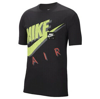 Nike Air Graphic Black Green Red Tshirt - Large - L -...