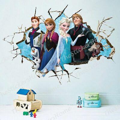 Home Decoration - Frozen Elsa Wall Stickers Art Decal Mural Girls Childs Kids Bedroom Home Decor