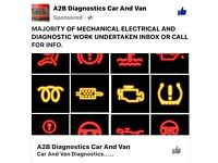 A2B Diagnostics Car And Van / Mechanic/Garage/Vehicles /Jump start /service/oil/fuel/filters/brakes