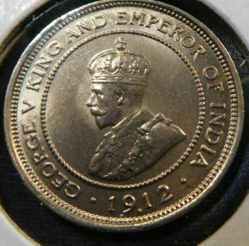 British Honduras, 1912 George V Five Cents, 5 Cents. 20,000 Mintage.