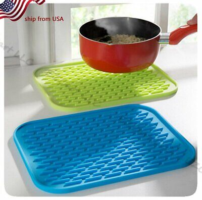 Colorful Silicone Potholder Anti hot Insulation Pad Table Mat Waterproof (Silicone Hot Pad)
