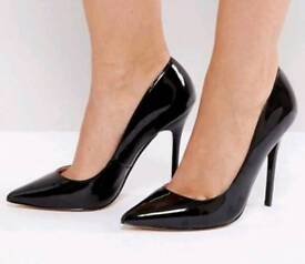 Black shiny size 6 heels from Office