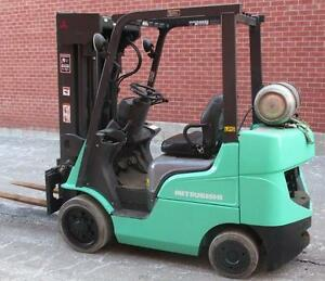 "2007 MITSUBISHI FORKLIFT 5000LB CAPACITY WITH 4 STAGE MAST (240"")"