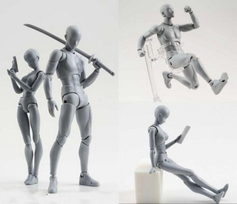 Body Kun DX Set Male Gray Color Variable Doll PVC Figure Model SHF S H Figuarts