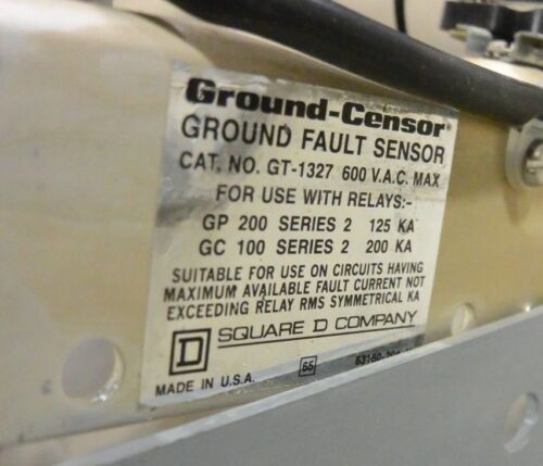 Square D Ground-Censor Ground Fault Sensor GT-1327 600VAC