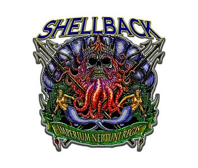 "Navy Shellback 5.5"" Die Cut Sticker / Decal"