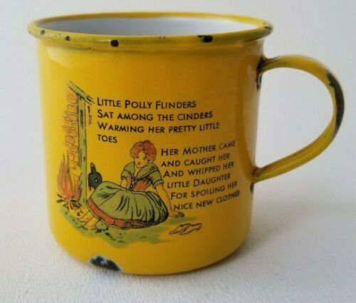 Vintage ENAMEL NURSERY RHYME CHILD