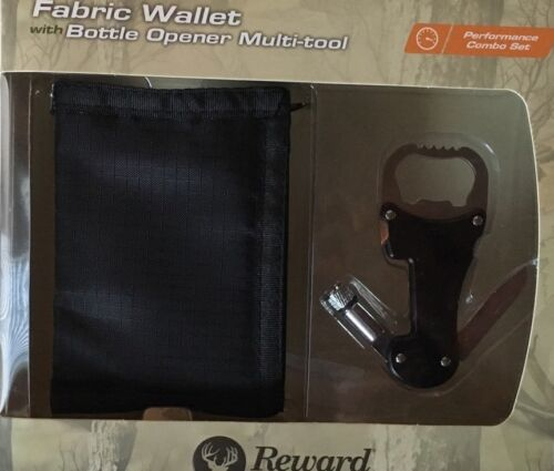 Reward Original Black Fabric Wallet With Bottle Opener Multi