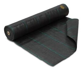 1mx100m 100gsm Geotextile Weed Control Ground Cover Fabric Fine Weave