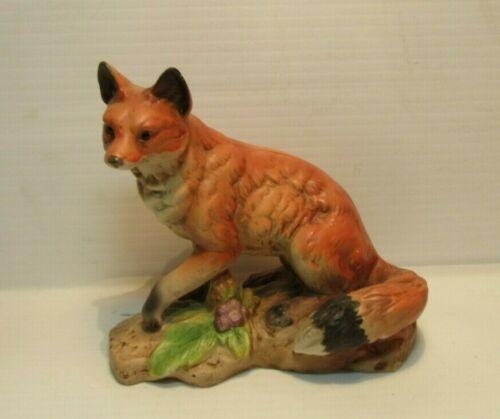 Vintage Norleans Fox Porcelain Ceramic Figurine Rare Made in Japan