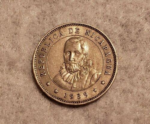 1939 Nicaragua 25 Centavos coin