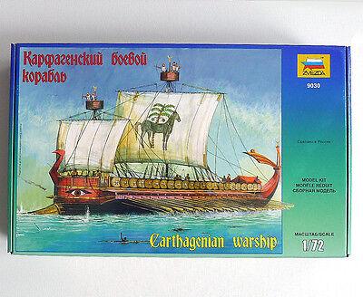 ZVEZDA 9030 1/72 KIT CARTHAGENIAN WARSHIP NAVE DA GUERRA CARTAGINESE