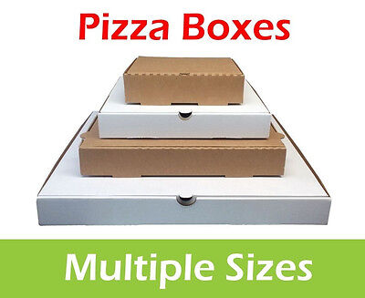 Plain Pizza Boxes, Takeaway Pizza Box, Postal Boxes, Multiple Colours and Sizes