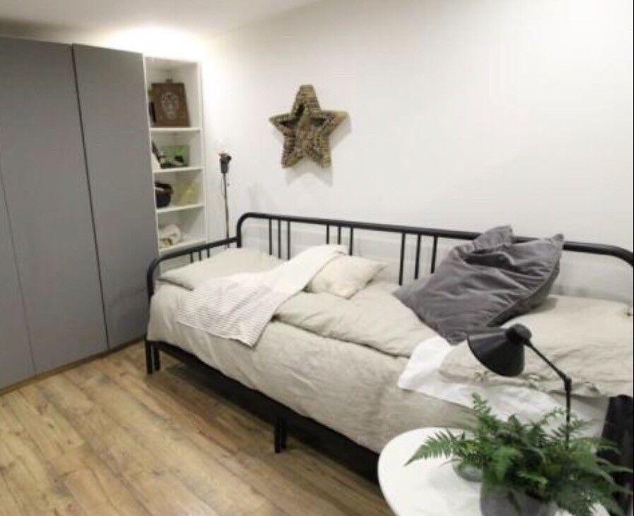 Ikea Fyresdal Day Bed Frame Black 80 X 200 In Kirkcaldy