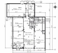 Architectural floor plans and building permits