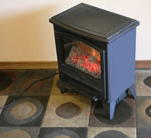 Electric Wood STOVE HEATER SEE VIDEO