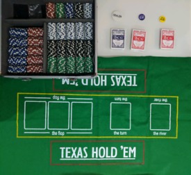 Poker set - 600 chips - with cards and play mat