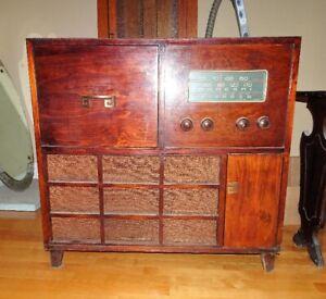 Meuble Radio Marconi Antique