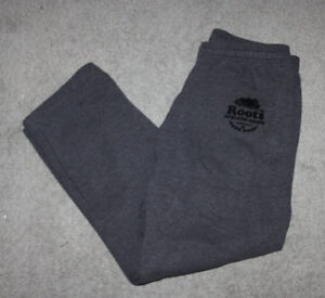 ROOTS ATHLETIC GOODS SWEATPANTS STRAIGHT LEG GREY SIZE MEN'S MED
