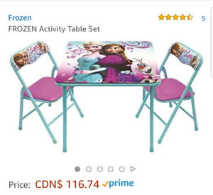 Frozen activity table & and chairs